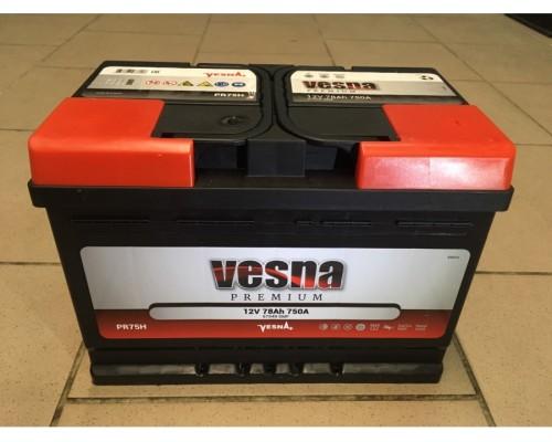 Аккумуляторная батарея марки 78Ah+R VESNA Premium (Словения)    Акция!!!!